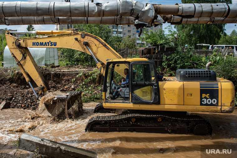 Последствия паводка в городе Нижние Серги. Свердловская область